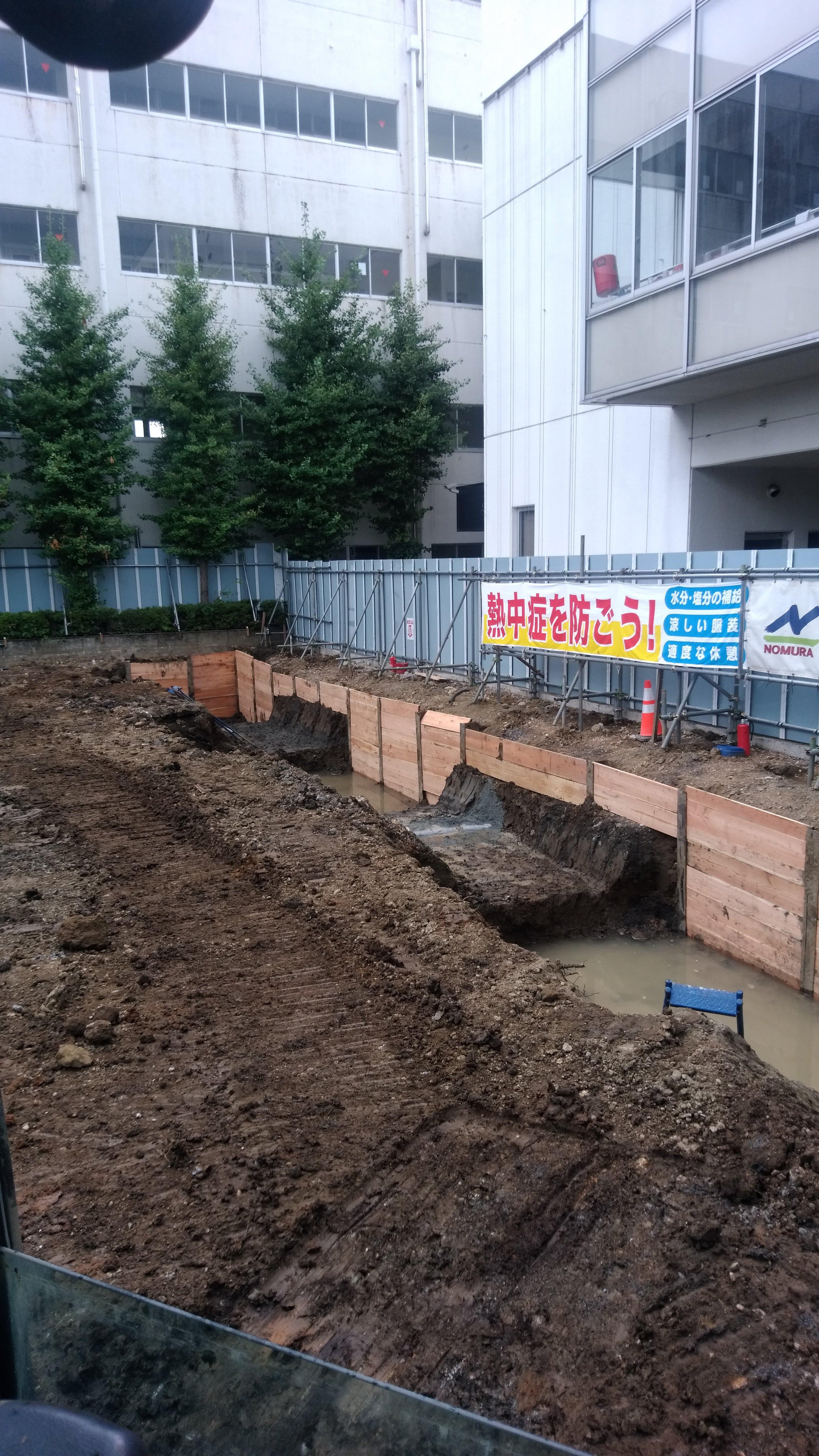根切り土工事 及び残土運搬処理