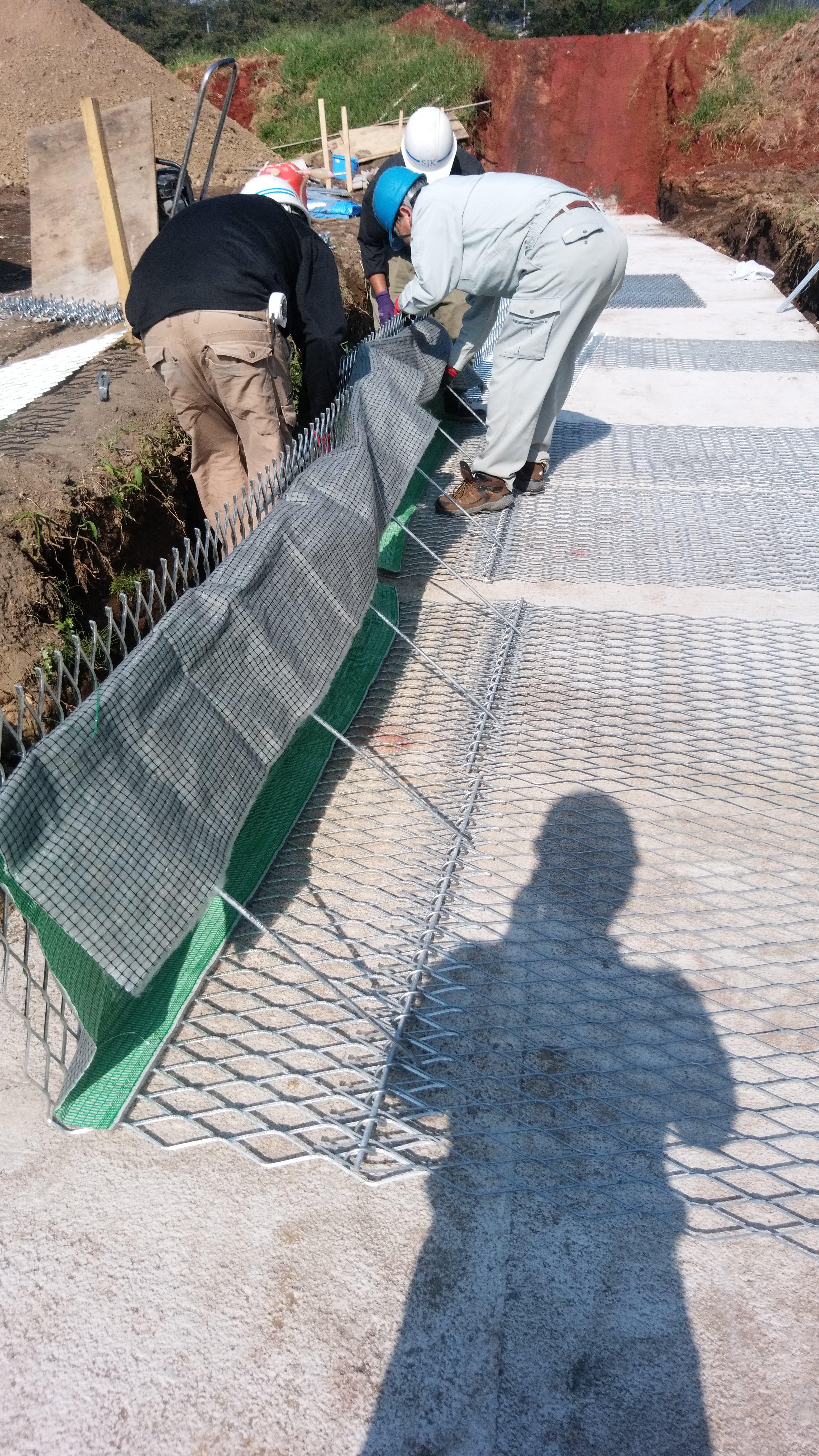 ジオテキスタイル補強土壁工事